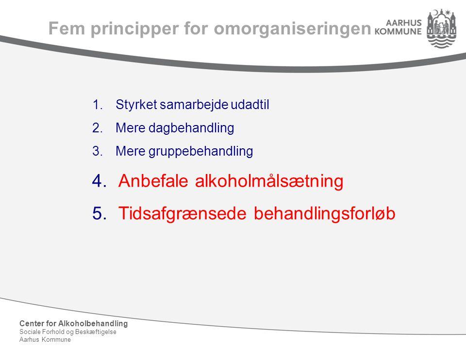 Fem principper for omorganiseringen