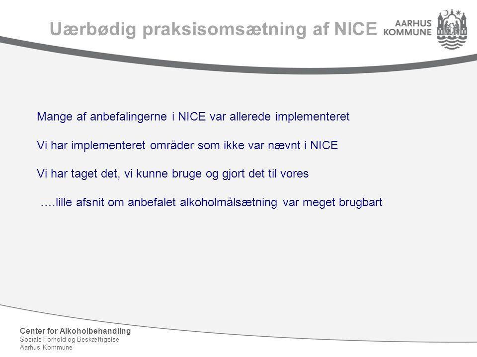 Uærbødig praksisomsætning af NICE