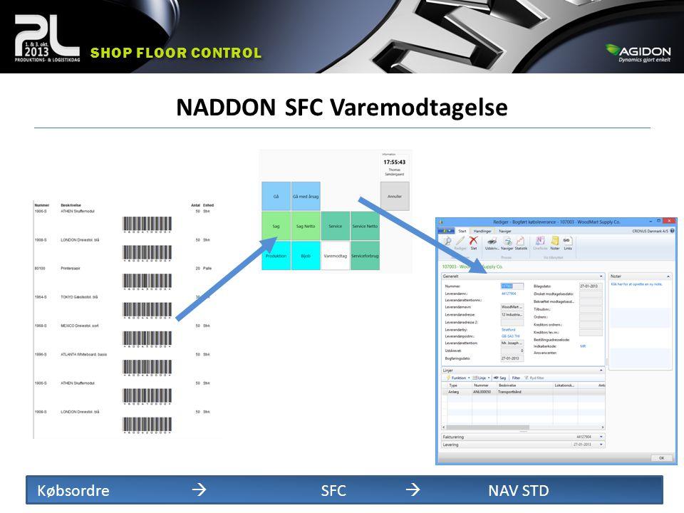 NADDON SFC Varemodtagelse