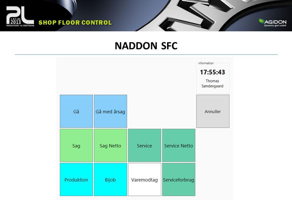 Shop floor control NADDON SFC