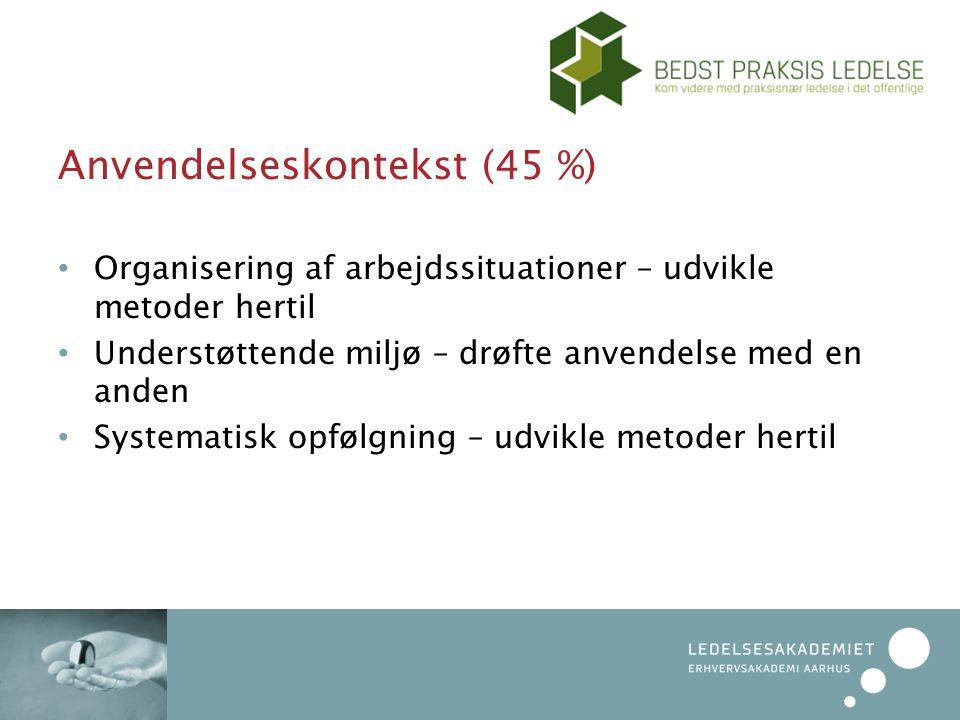 Anvendelseskontekst (45 %)