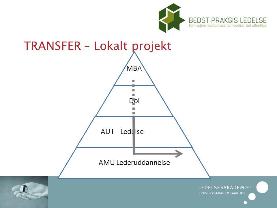 TRANSFER – Lokalt projekt