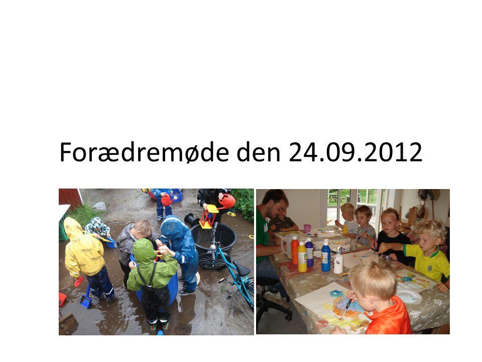 Forædremøde den 24.09.2012