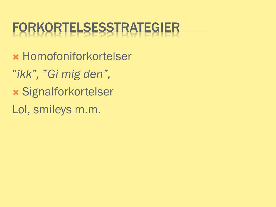 Mm forkortelse