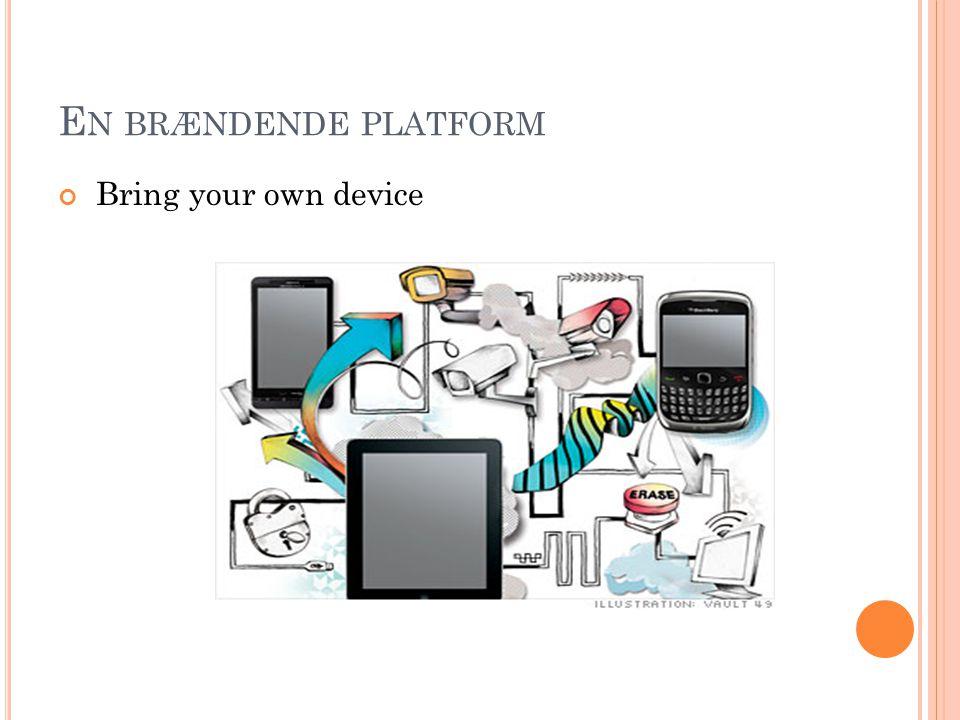 En brændende platform Bring your own device Aktuel problemstilling