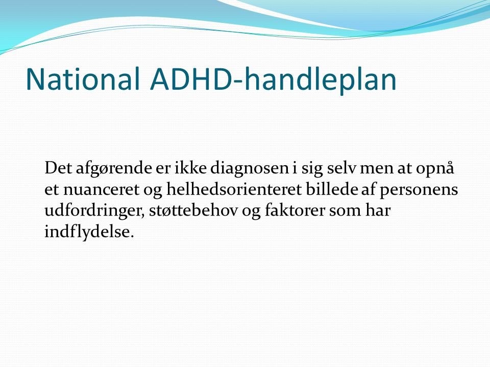 National ADHD-handleplan