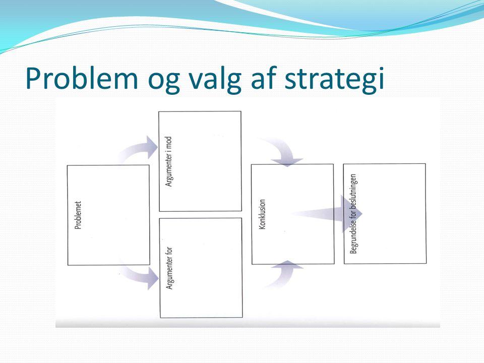 Problem og valg af strategi