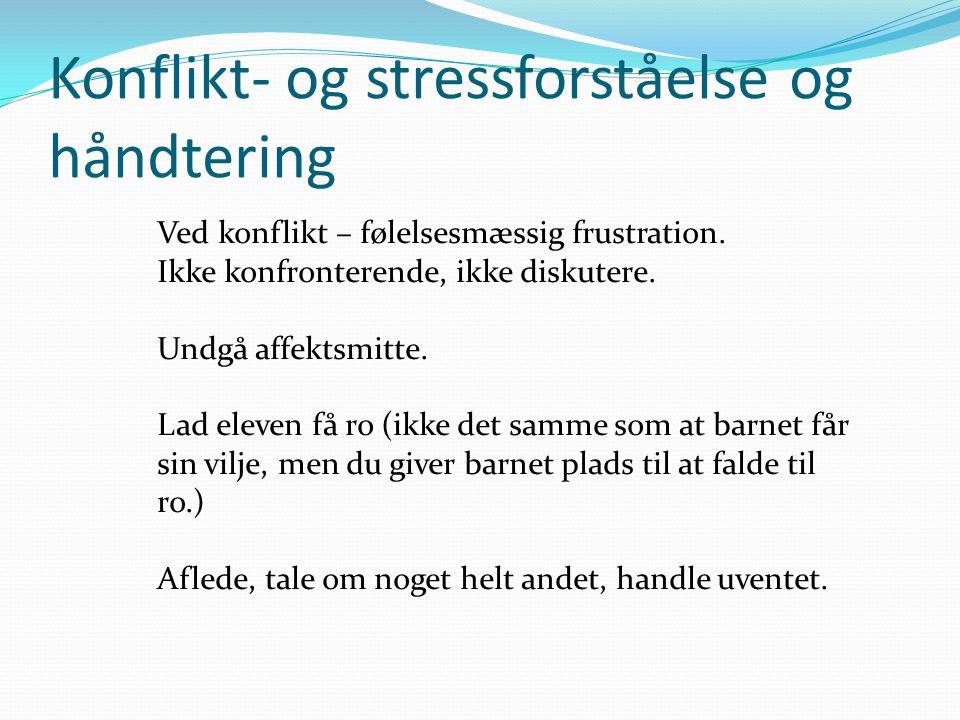 Konflikt- og stressforståelse og håndtering