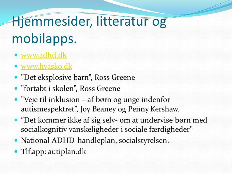 Hjemmesider, litteratur og mobilapps.