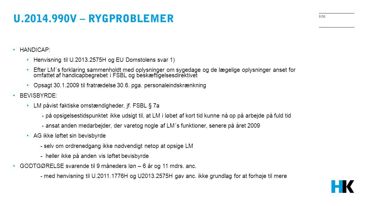 U.2014.990V – RYGPROBLEMER HANDICAP: