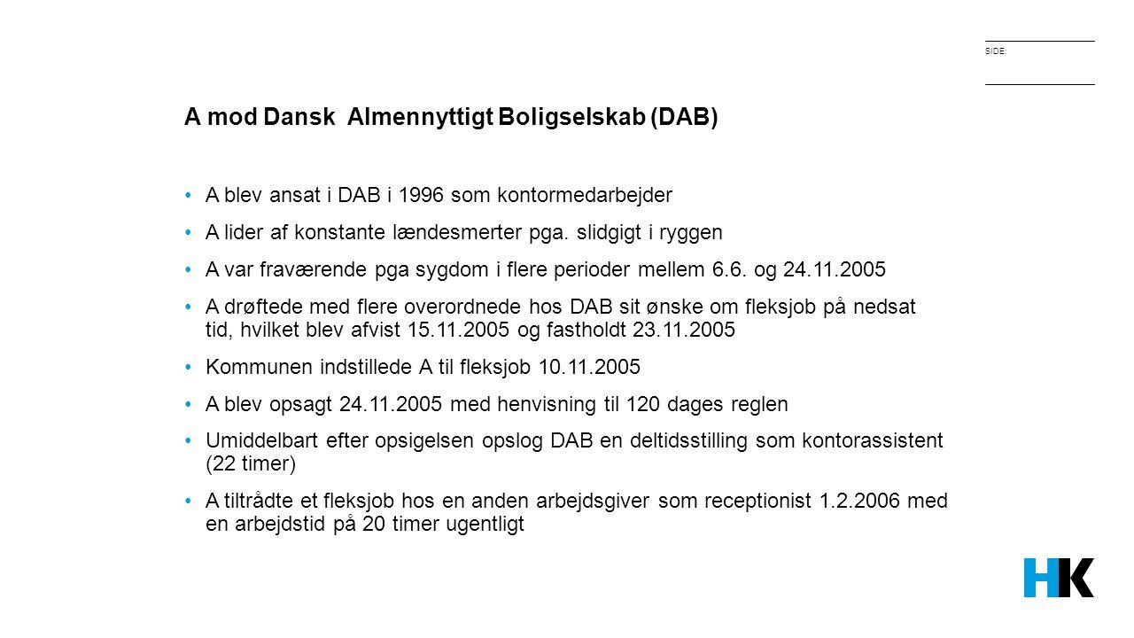 A mod Dansk Almennyttigt Boligselskab (DAB)