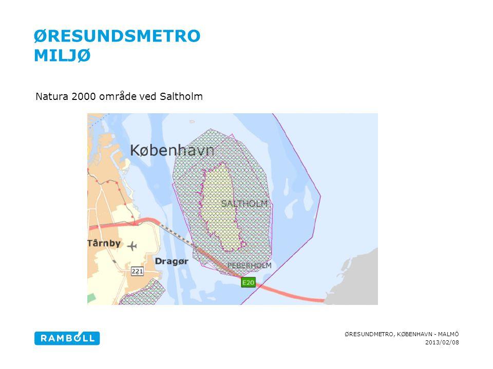 Øresundsmetro Miljø Natura 2000 område ved Saltholm