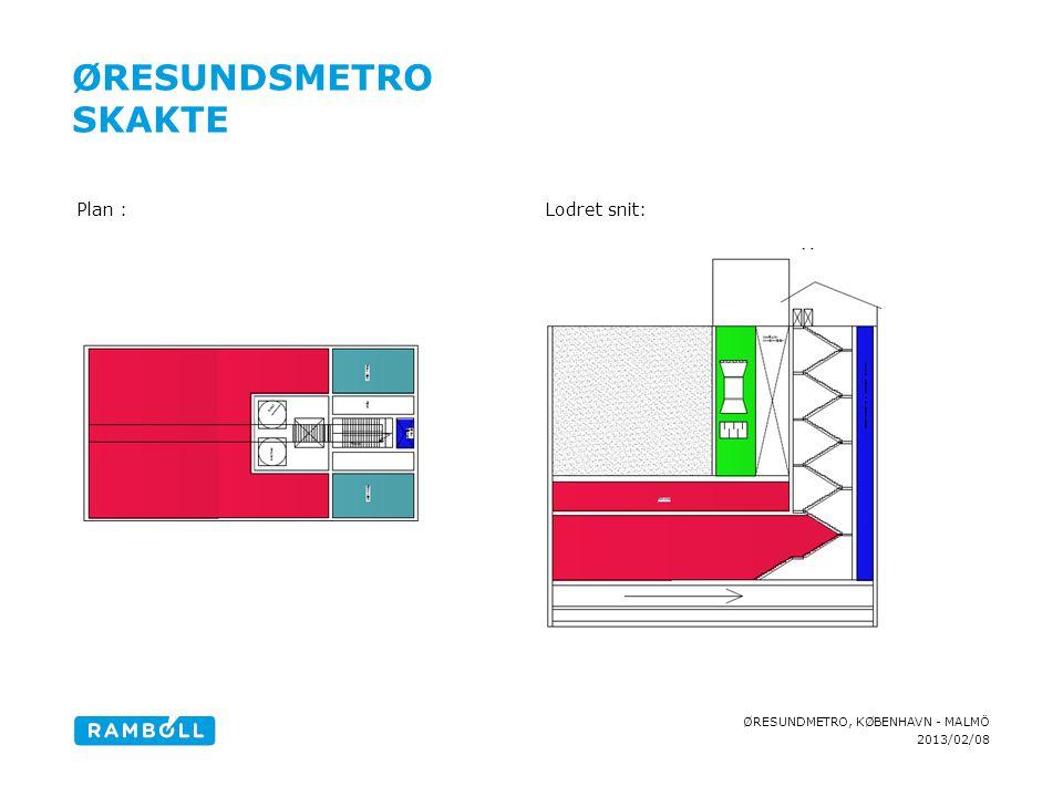 Øresundsmetro Skakte Plan : Lodret snit: