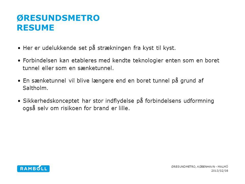 Øresundsmetro Resume Content slide