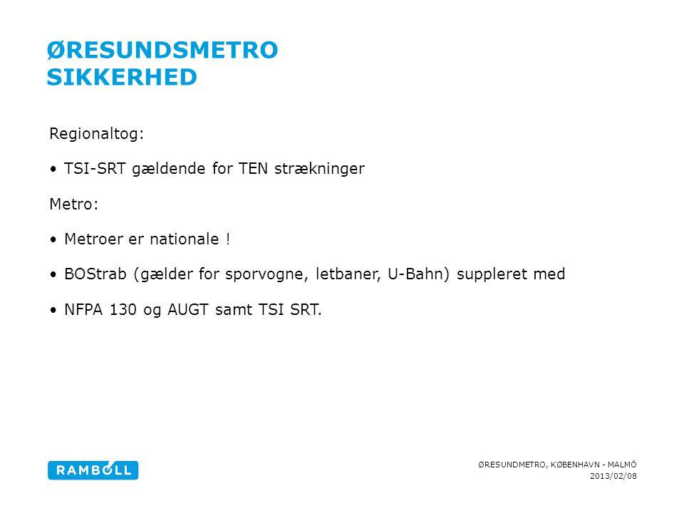 Øresundsmetro Sikkerhed