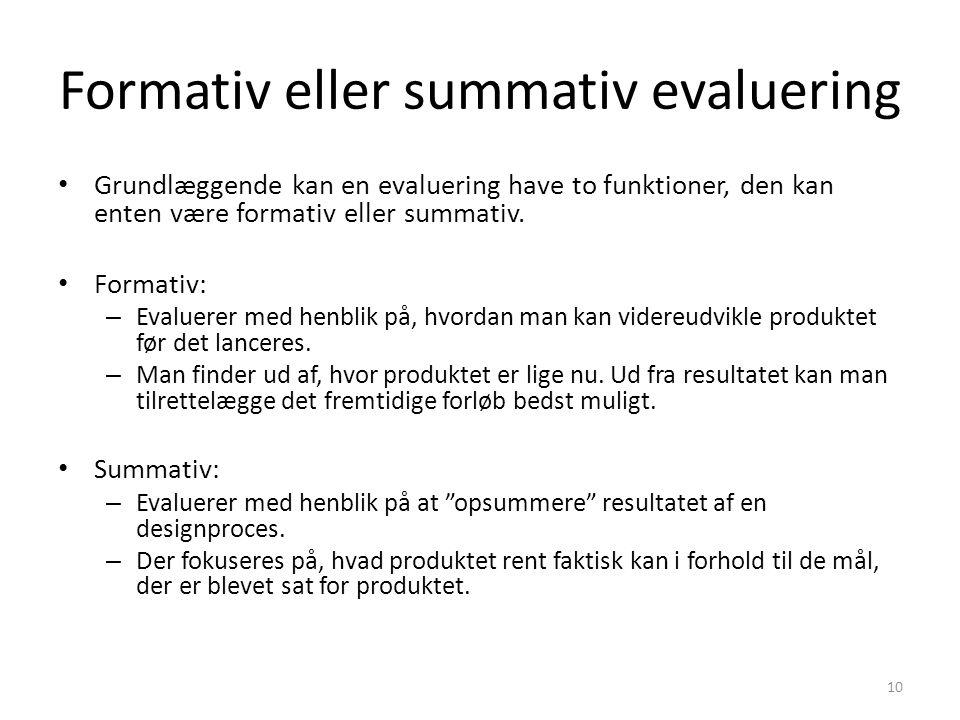 Formativ eller summativ evaluering