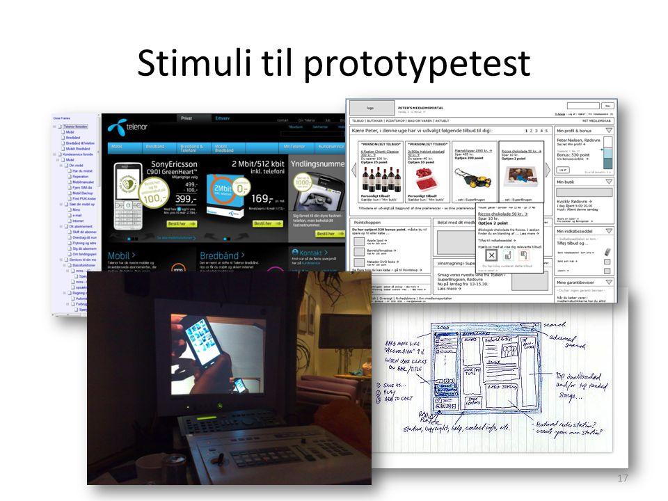 Stimuli til prototypetest