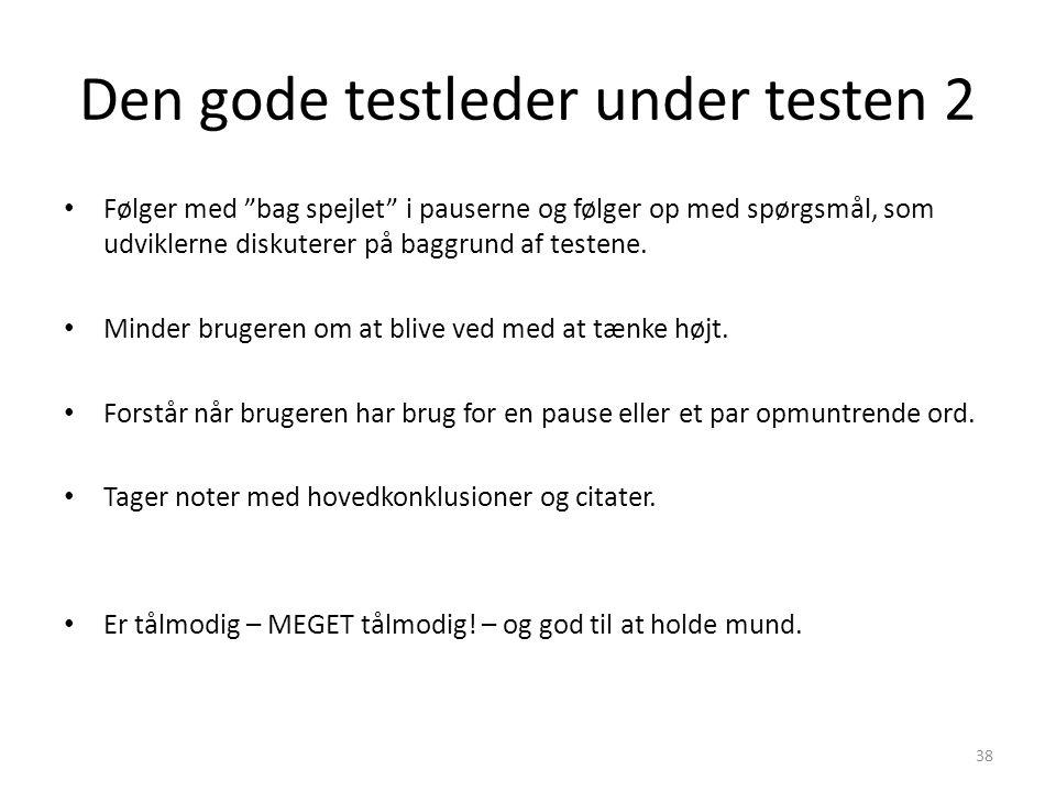 Den gode testleder under testen 2
