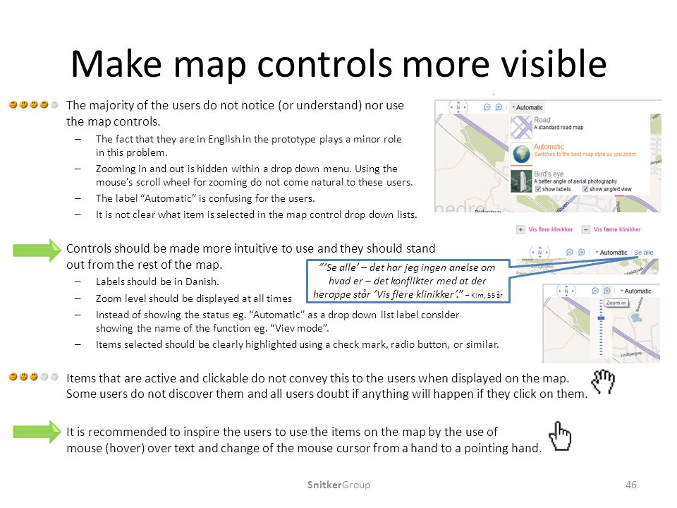 Make map controls more visible