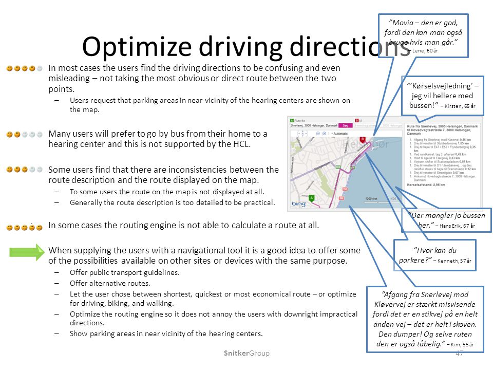 Optimize driving directions