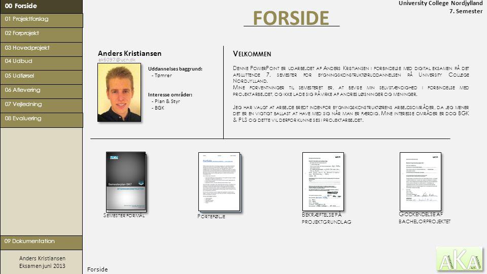 FORSIDE Anders Kristiansen Velkommen 00 Forside
