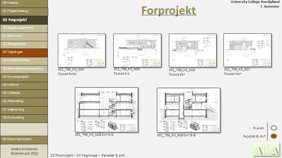 02 Forprojekt – 03 Tegninger – Facader & snit