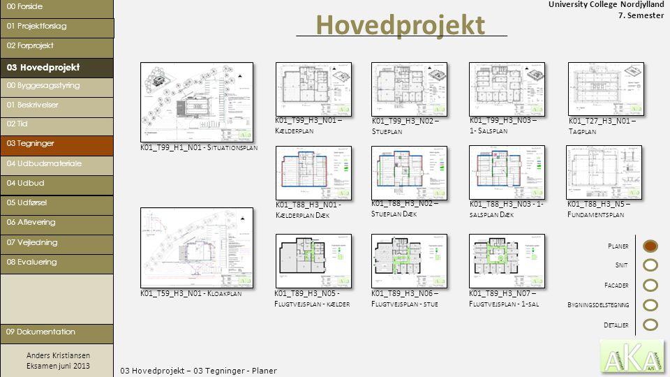 03 Hovedprojekt – 03 Tegninger - Planer