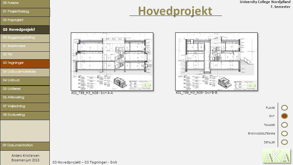 03 Hovedprojekt – 03 Tegninger - Snit