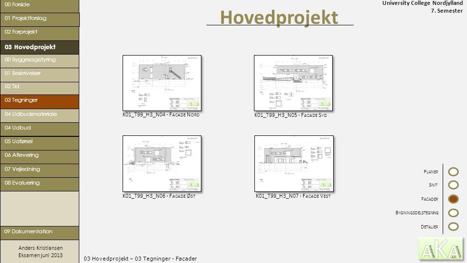 03 Hovedprojekt – 03 Tegninger - Facader