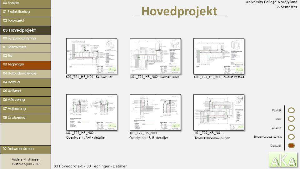 03 Hovedprojekt – 03 Tegninger - Detaljer