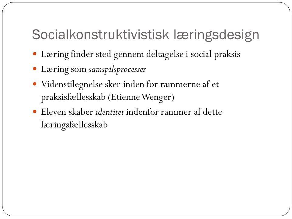 Socialkonstruktivistisk læringsdesign