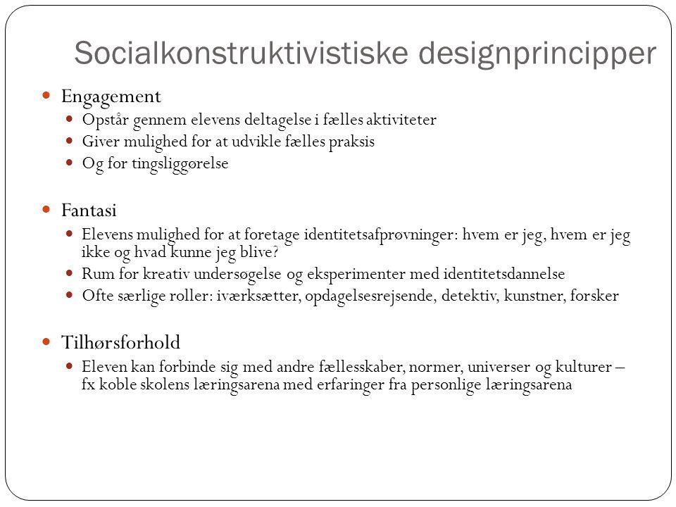 Socialkonstruktivistiske designprincipper