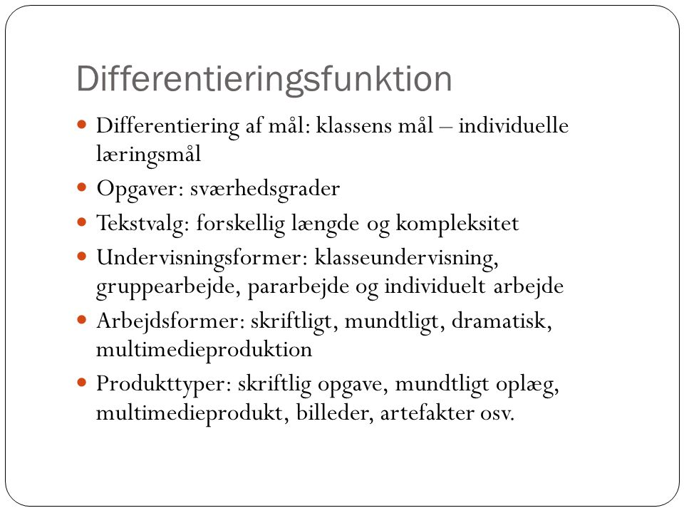 Differentieringsfunktion