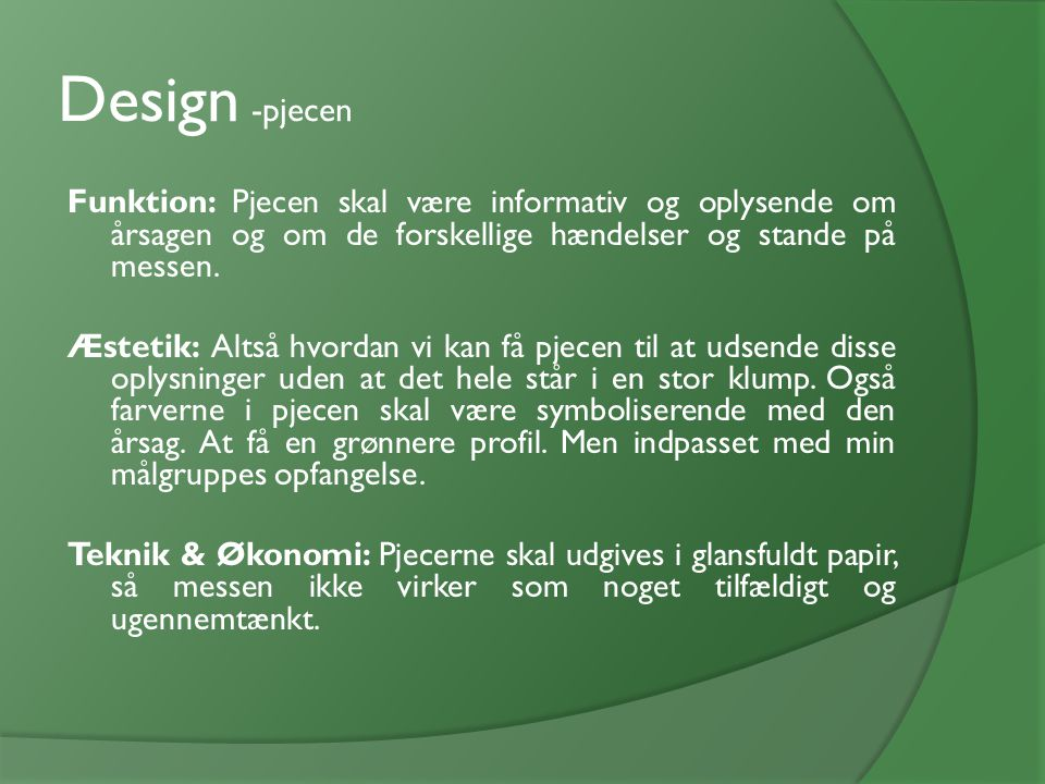 Design -pjecen