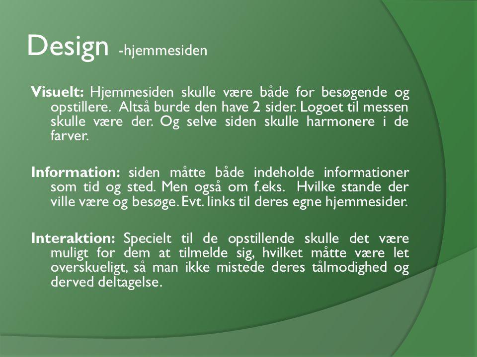 Design -hjemmesiden