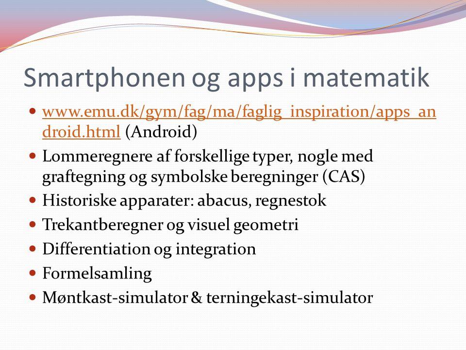 Smartphonen og apps i matematik
