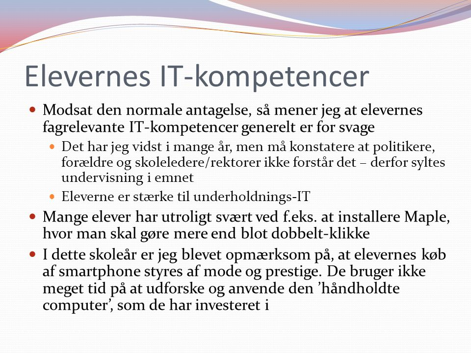 Elevernes IT-kompetencer