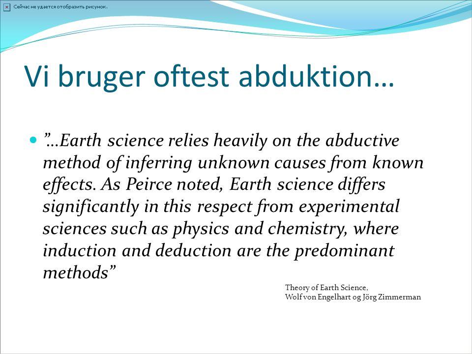 Vi bruger oftest abduktion…