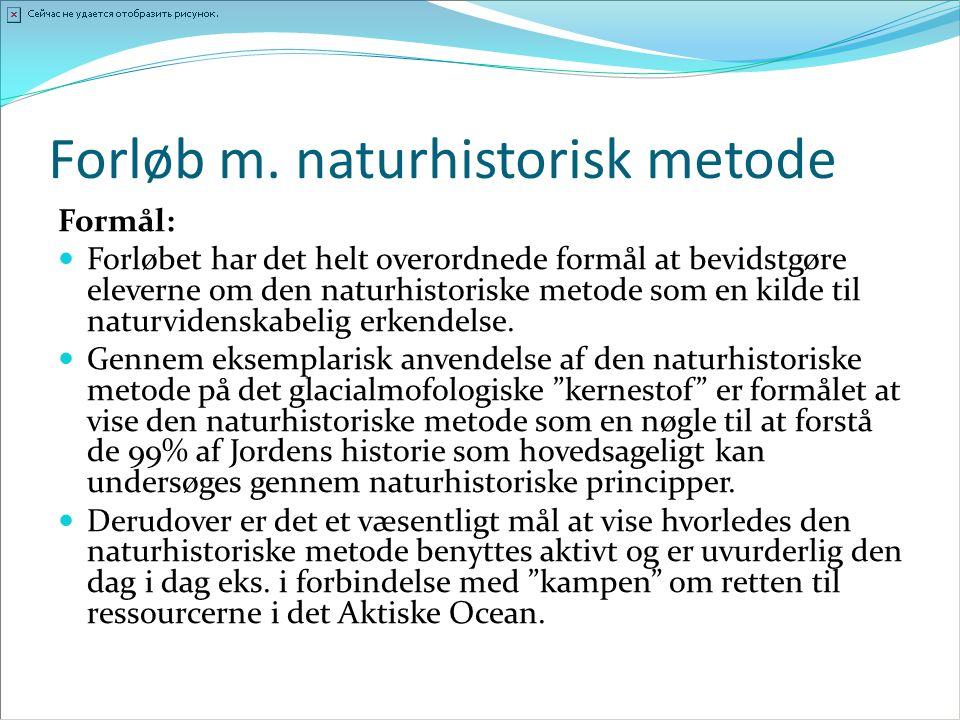 Forløb m. naturhistorisk metode