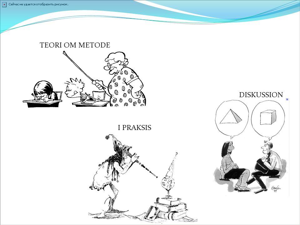 TEORI OM METODE DISKUSSION I PRAKSIS