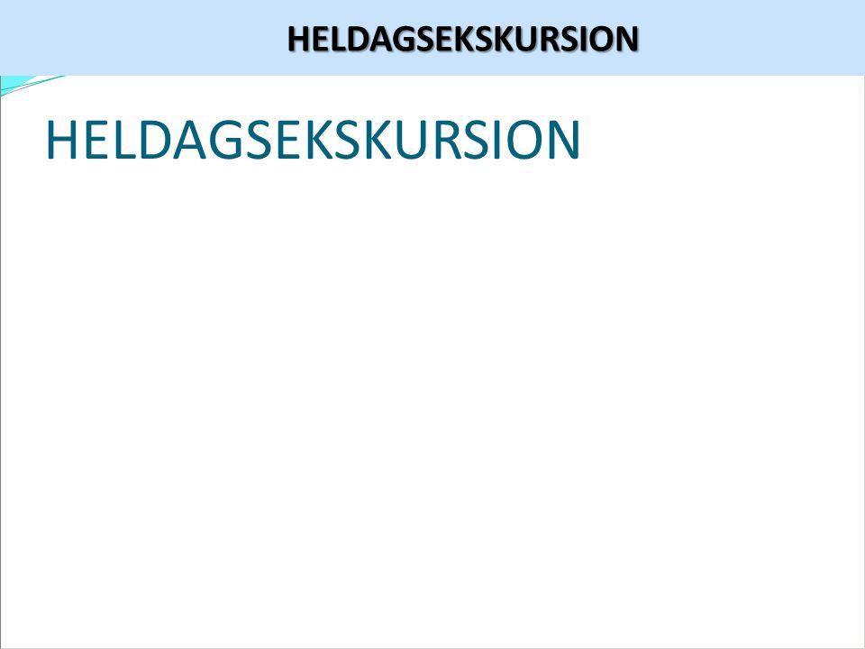 HELDAGSEKSKURSION HELDAGSEKSKURSION