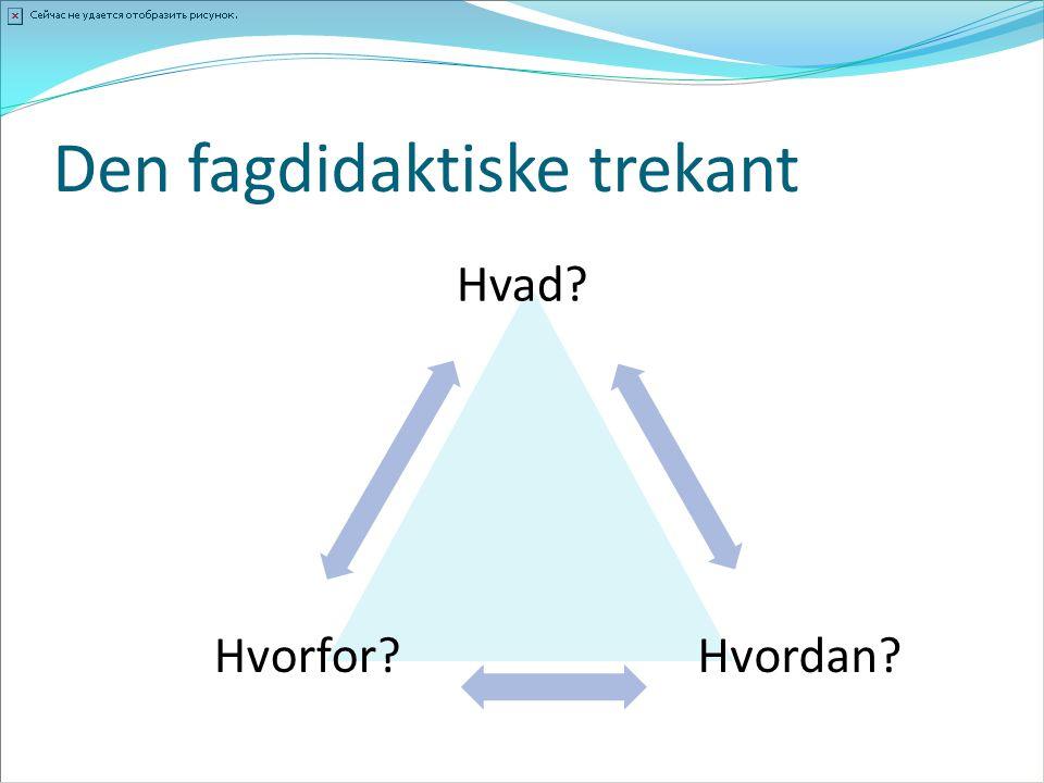 Den fagdidaktiske trekant