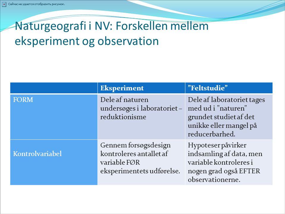 Naturgeografi i NV: Forskellen mellem eksperiment og observation