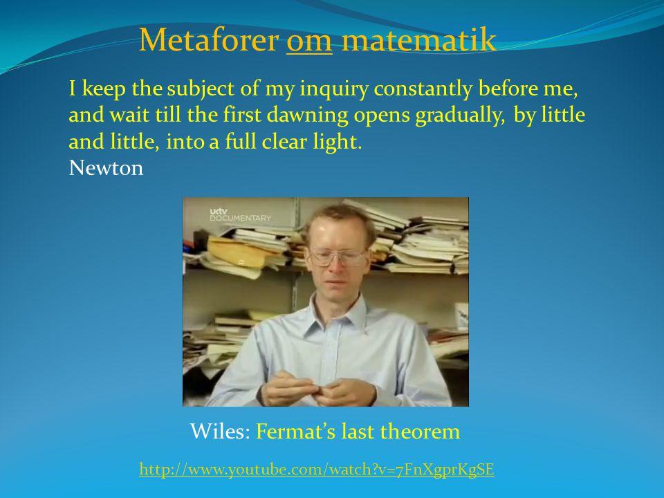 Metaforer om matematik