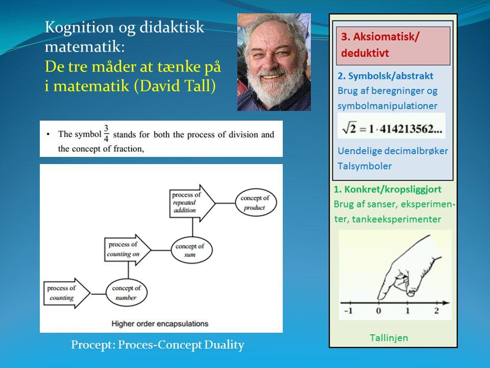 Kognition og didaktisk matematik: De tre måder at tænke på