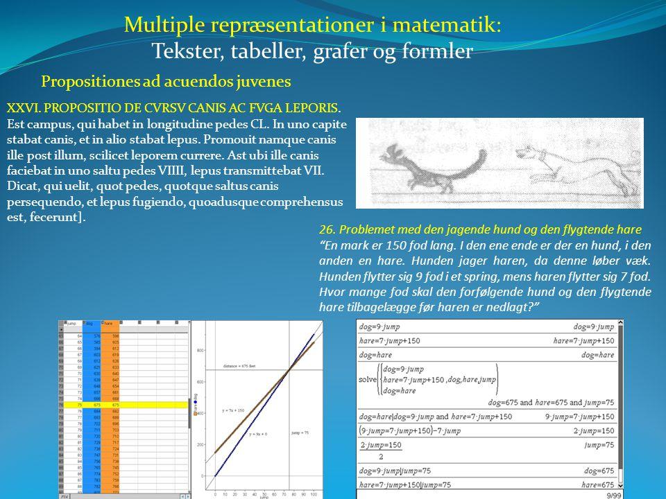 Multiple repræsentationer i matematik: