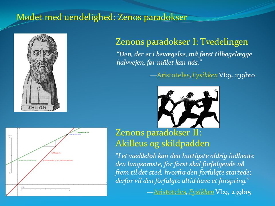 Mødet med uendelighed: Zenos paradokser