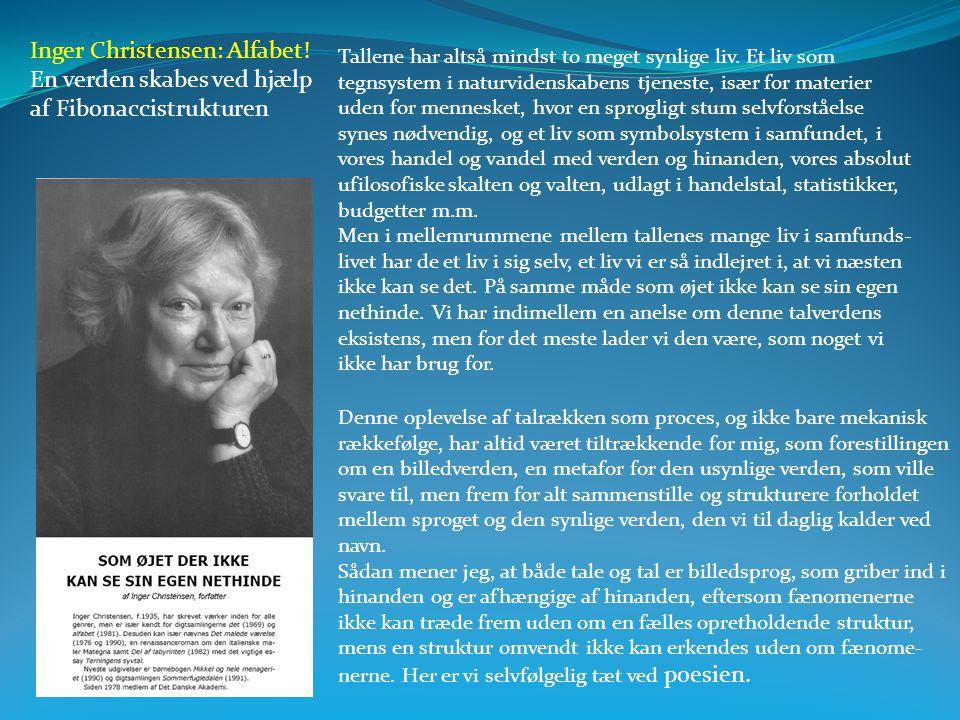 Inger Christensen: Alfabet! En verden skabes ved hjælp