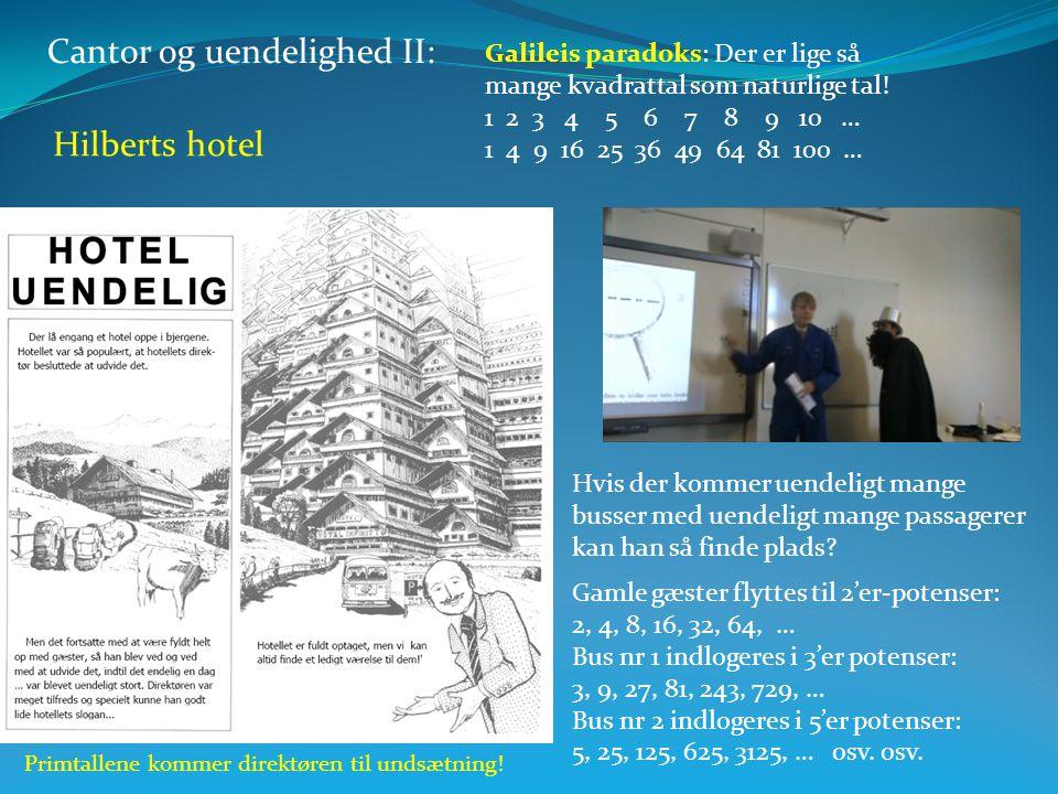 Cantor og uendelighed II: