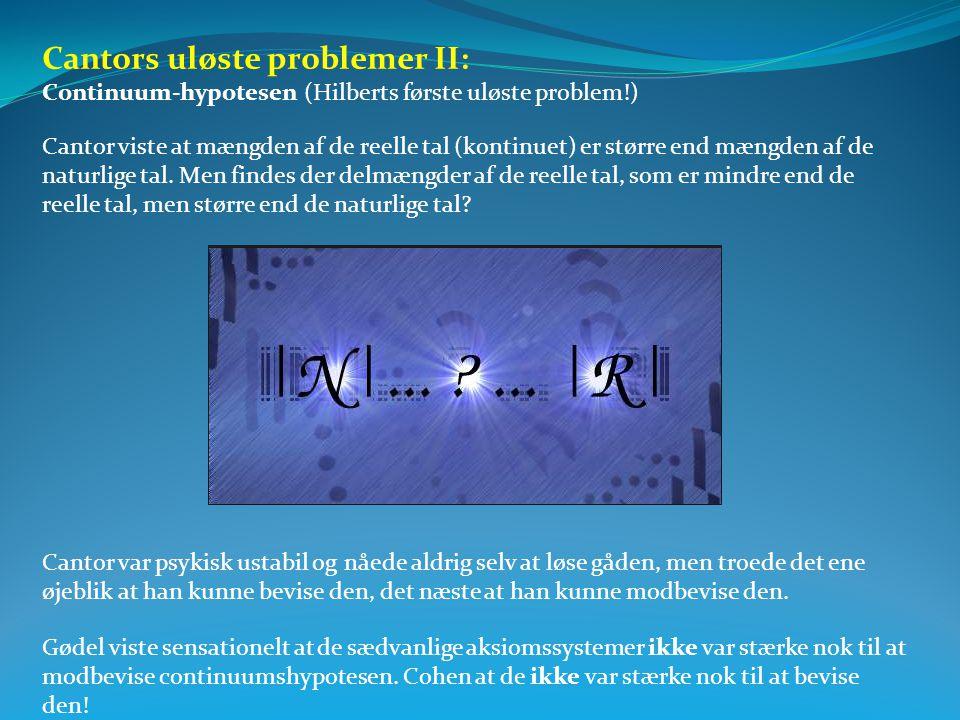 Cantors uløste problemer II: